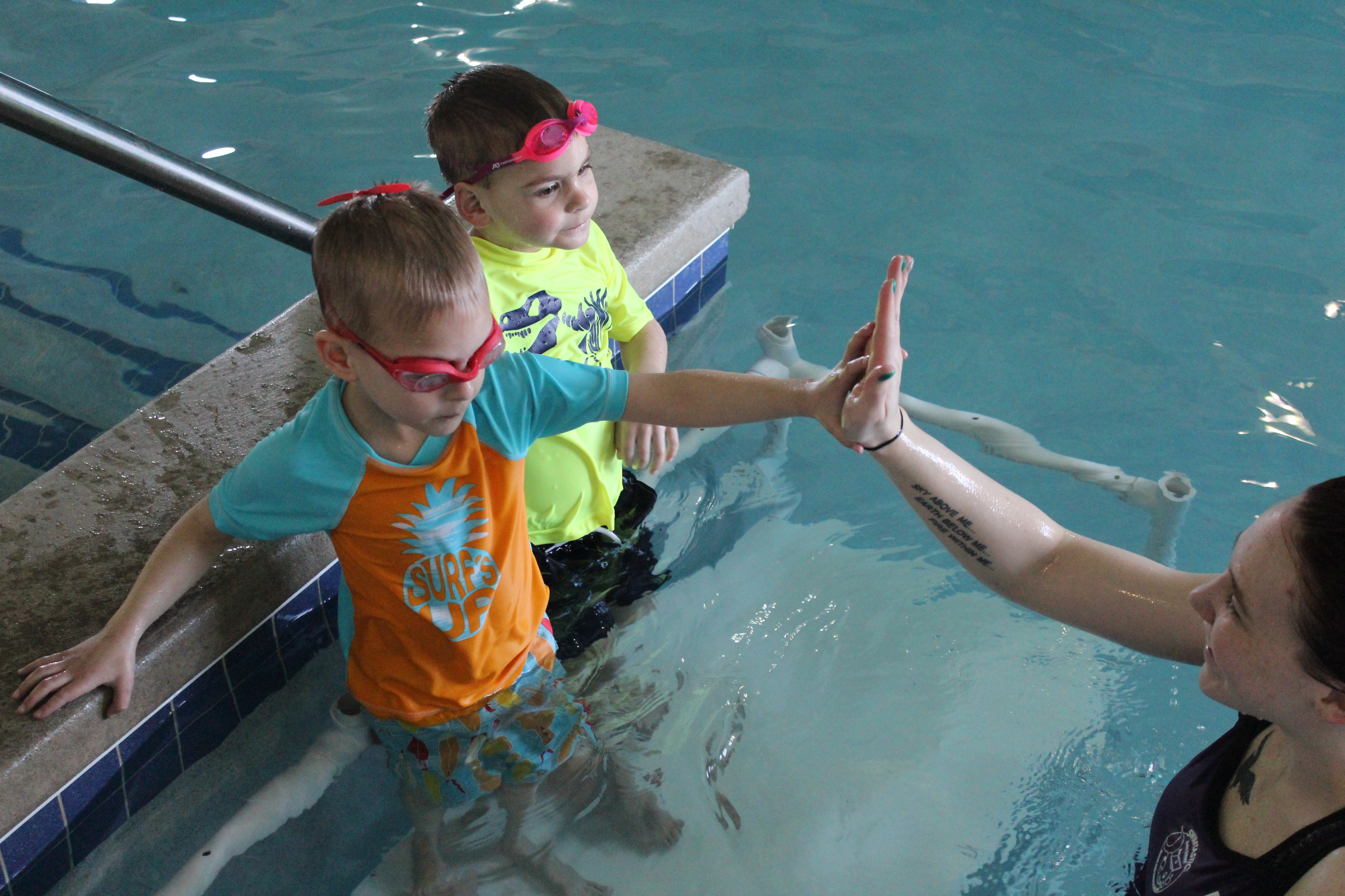 Swim Lesson high five