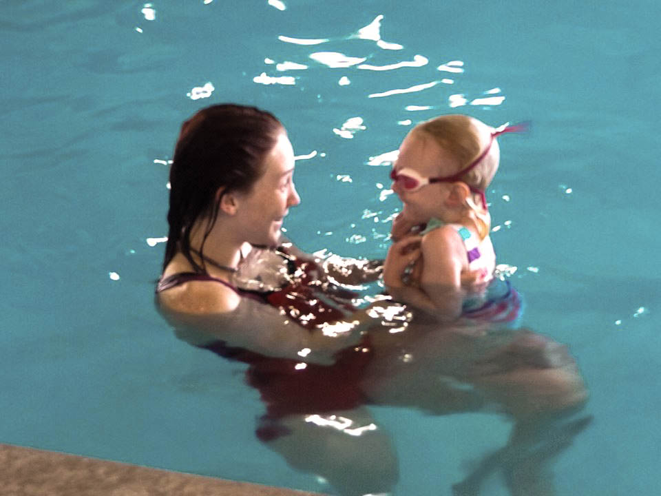 Swim Instructor and Kiddo