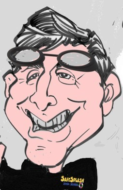 Caricature of Steve Albert, a Safesplash Swim Instructor